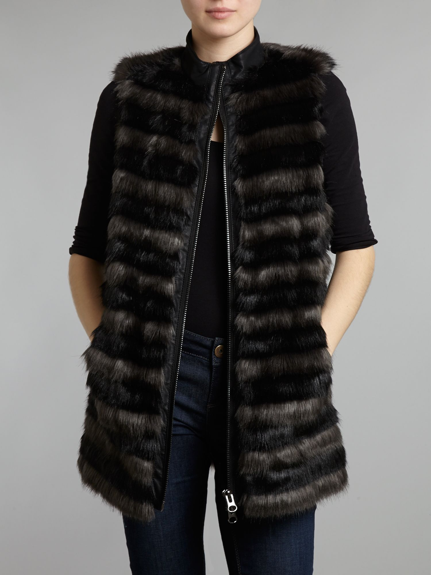 'Embrace the faux fur gilet trend with this on-point piece. We designed it with a lovely sleek fur which lies flat and doesn't add bulk. Layer it up with jerseys and knits and when temperatures dip add a denim or leather jacket.'/5(7).