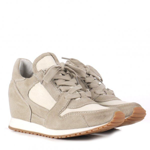 Ash Dean Low Wedge Trainer Shoes in Clay (Natural)