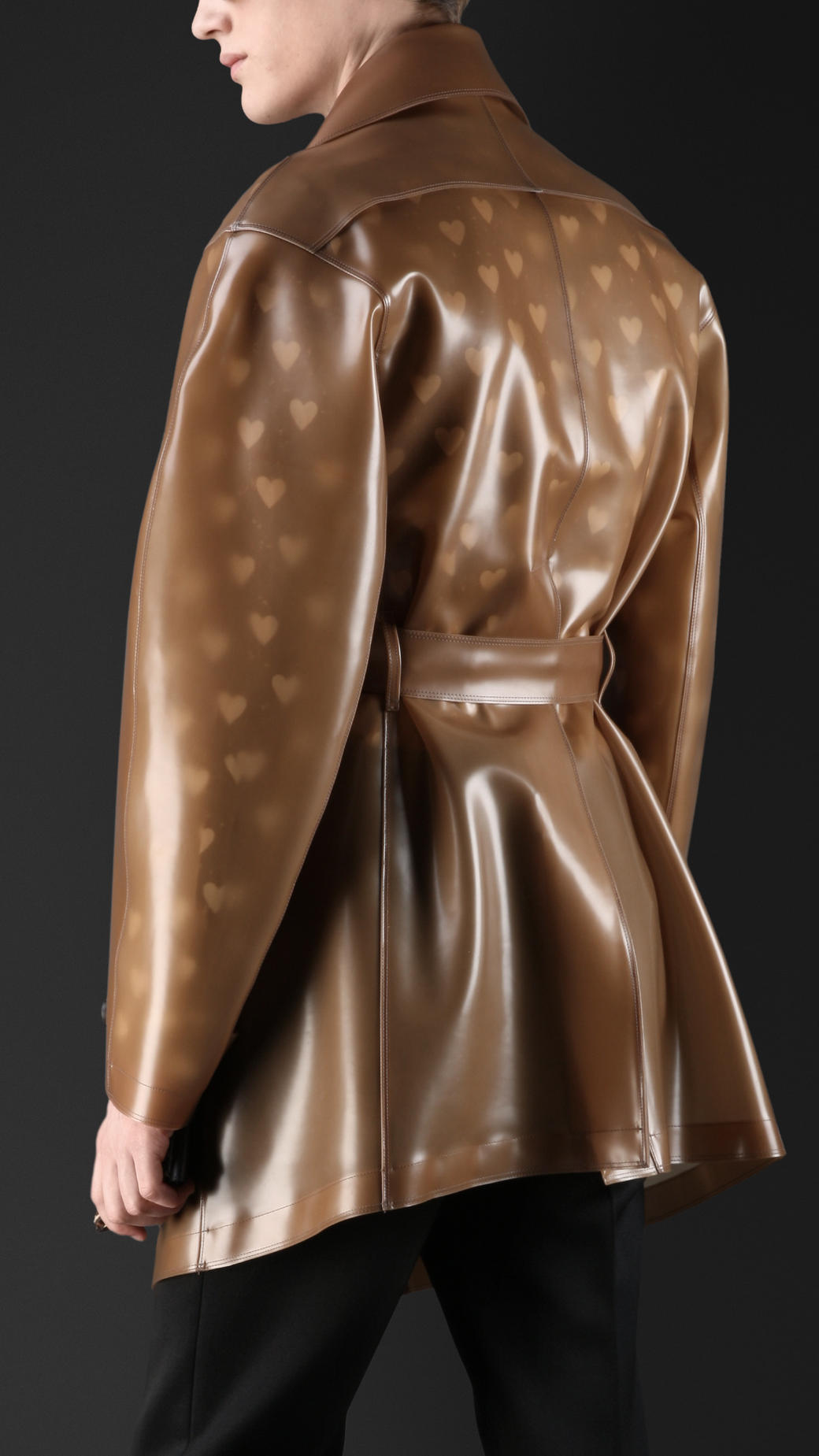 Lyst Burberry Translucent Rubber Trench Coat In Brown