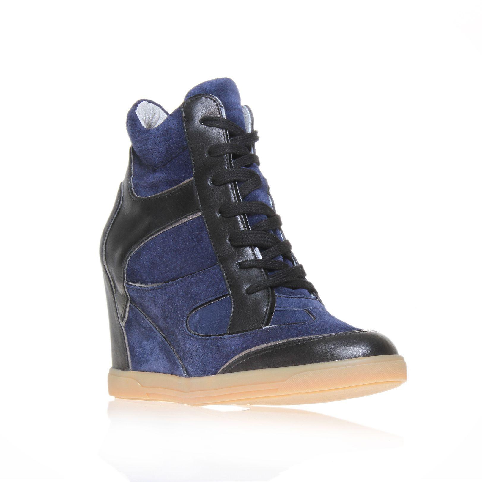 carvela kurt geiger liberty wedge trainer shoes in