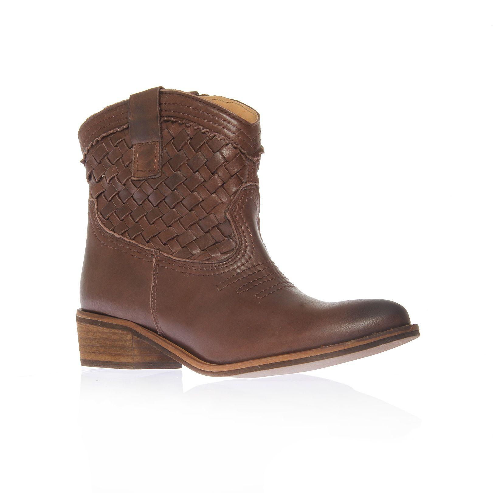 carvela kurt geiger salt cowboy style ankle boots in brown