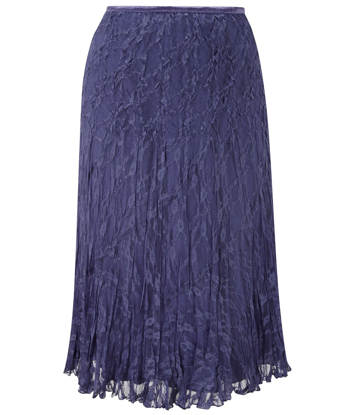 cc petite lavender crinkle lace skirt in purple lavender