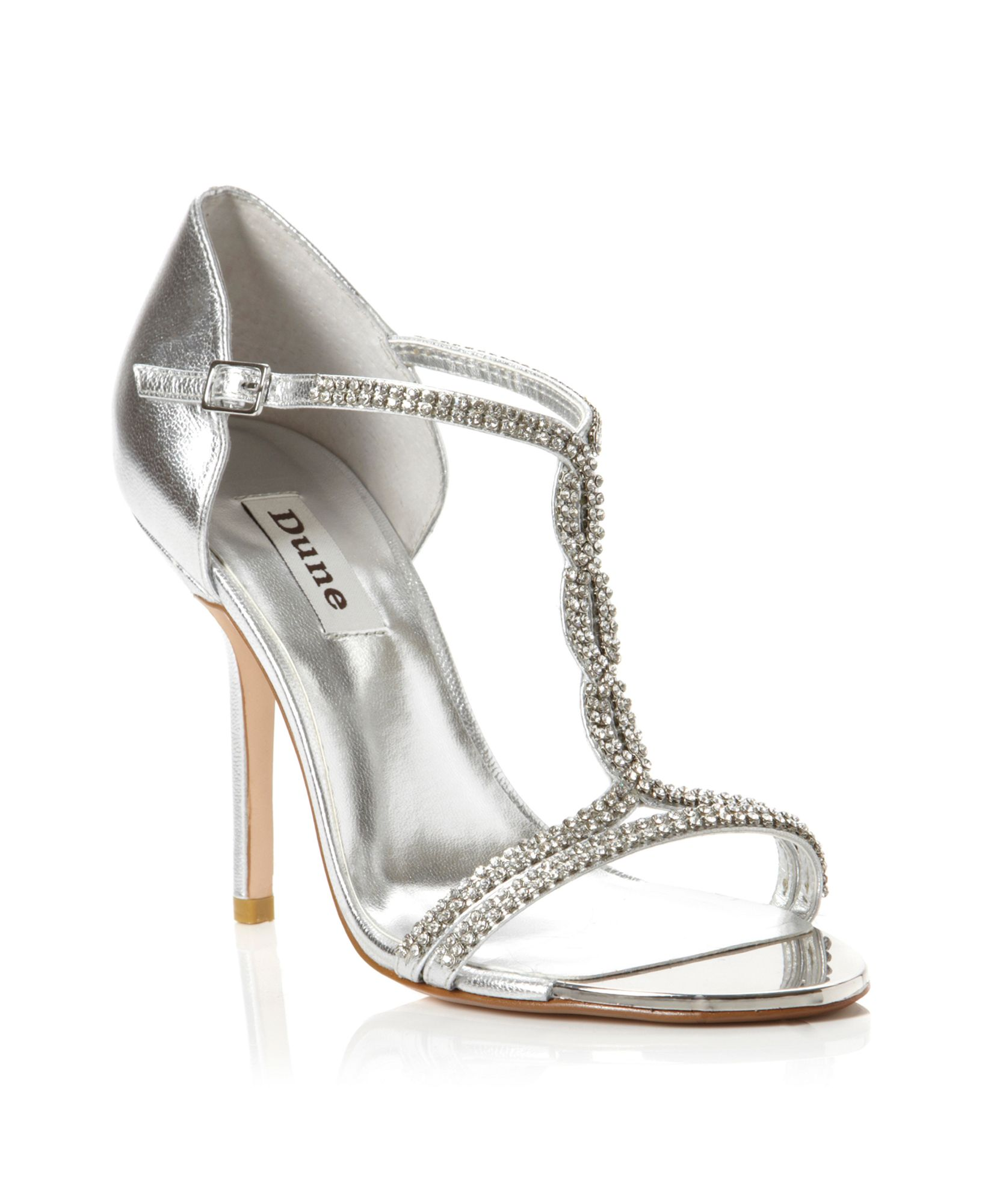 Dune Honour Diamante T Bar Sandals in