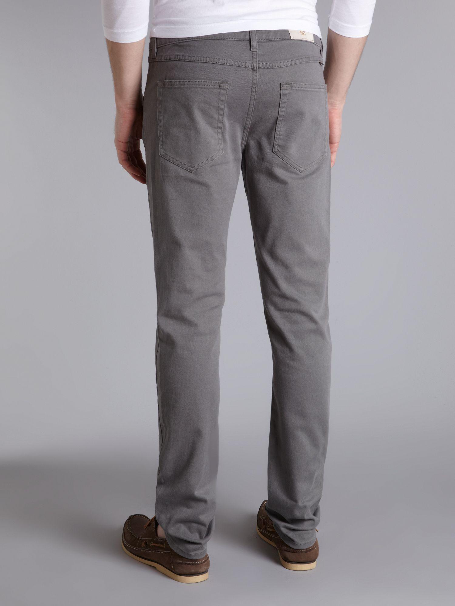 Drake Slim Fit Jean In Grey Twill - Grey Farah E9EHOf