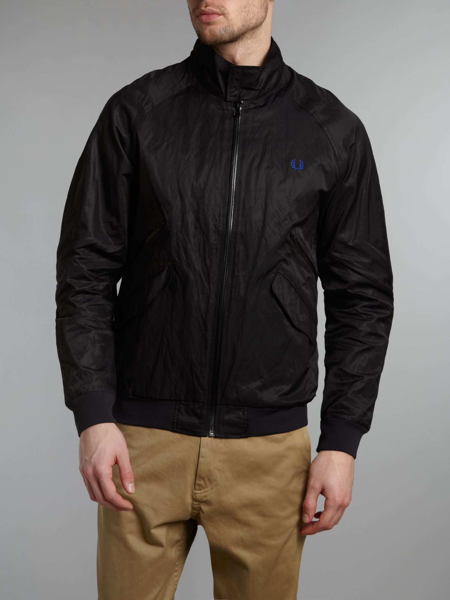 Fred Perry Capsule Sport Technical Harrington Jacket in Black for Men