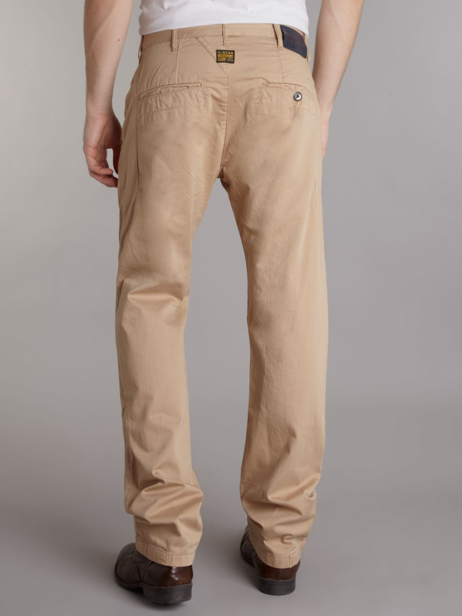 g star raw bronson tapered chino in natural for men lyst. Black Bedroom Furniture Sets. Home Design Ideas
