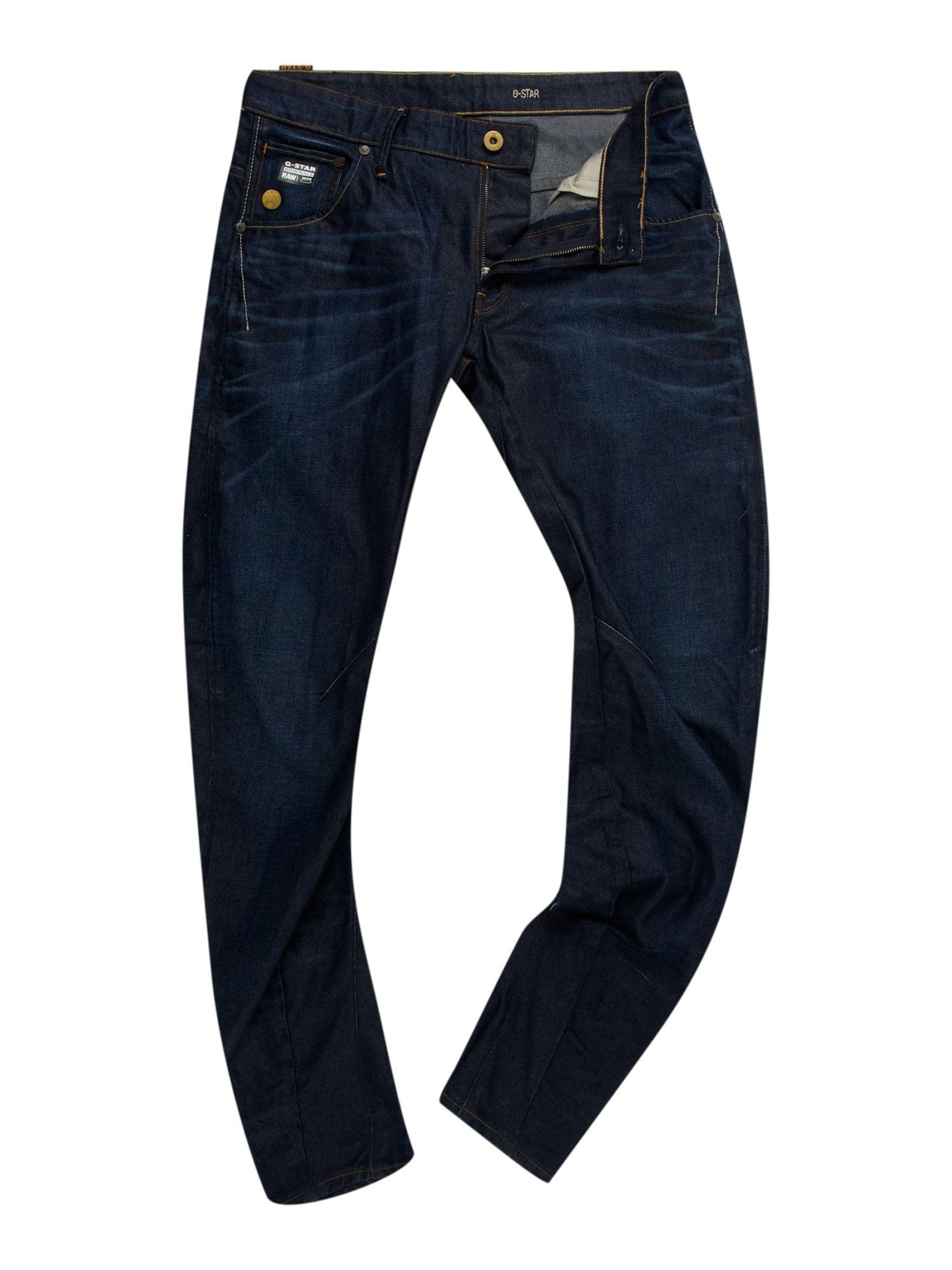 g star raw 3d slim arc fit jeans in blue for men denim. Black Bedroom Furniture Sets. Home Design Ideas
