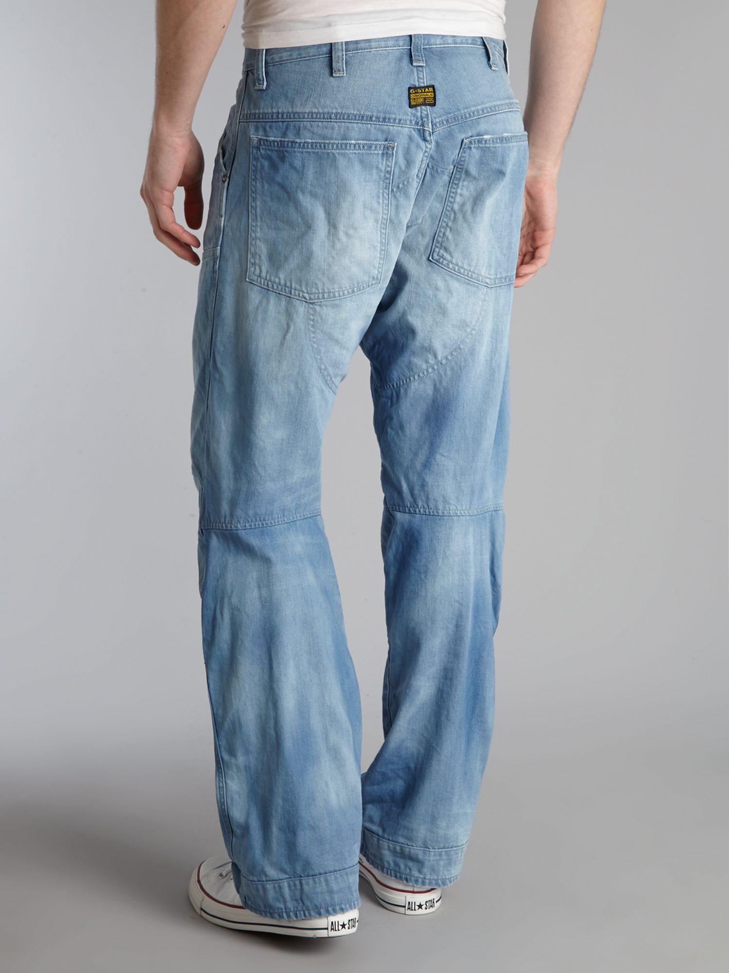 g star raw loose fit denim jean in blue for men lyst. Black Bedroom Furniture Sets. Home Design Ideas