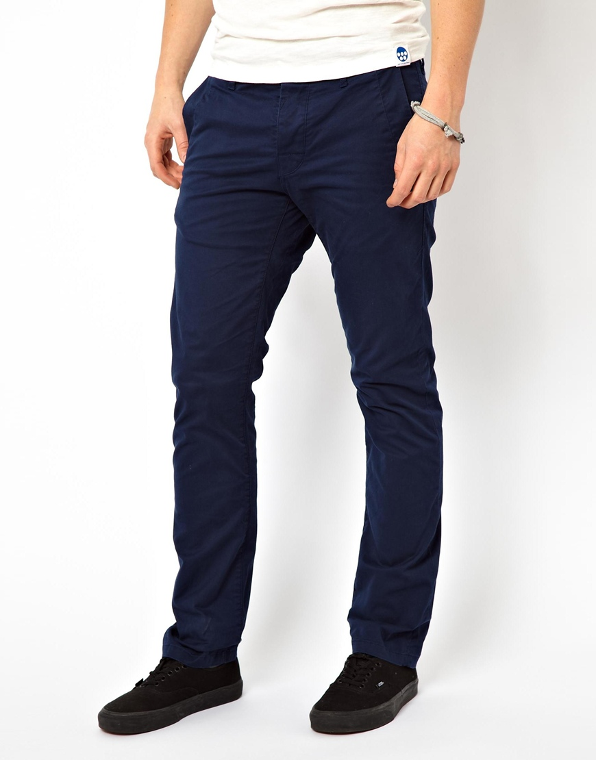 100% genuine really comfortable arrives G-Star RAW G Star Correct Line Chinos Bronson Slim in Blue for Men ...