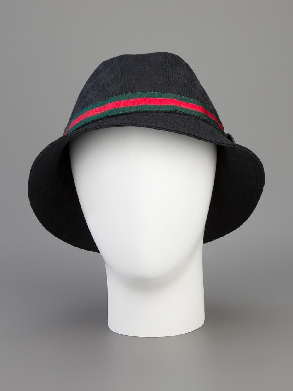 cb658a0b3a2 Lyst - Gucci Logo Fedora in Black for Men