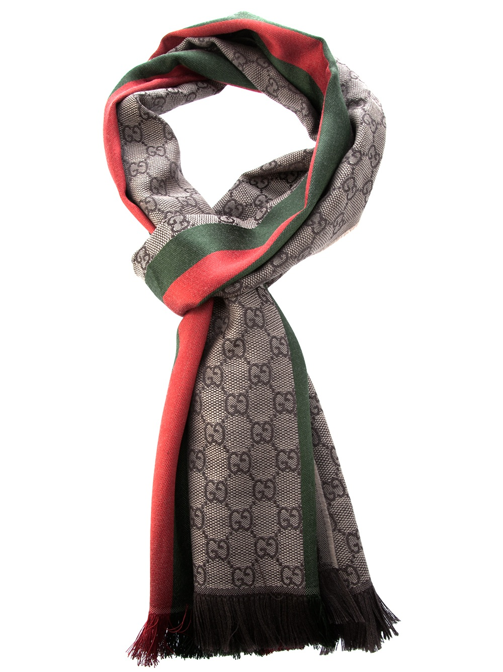 Gucci Striped Check Scarf In Pink For Men Lyst