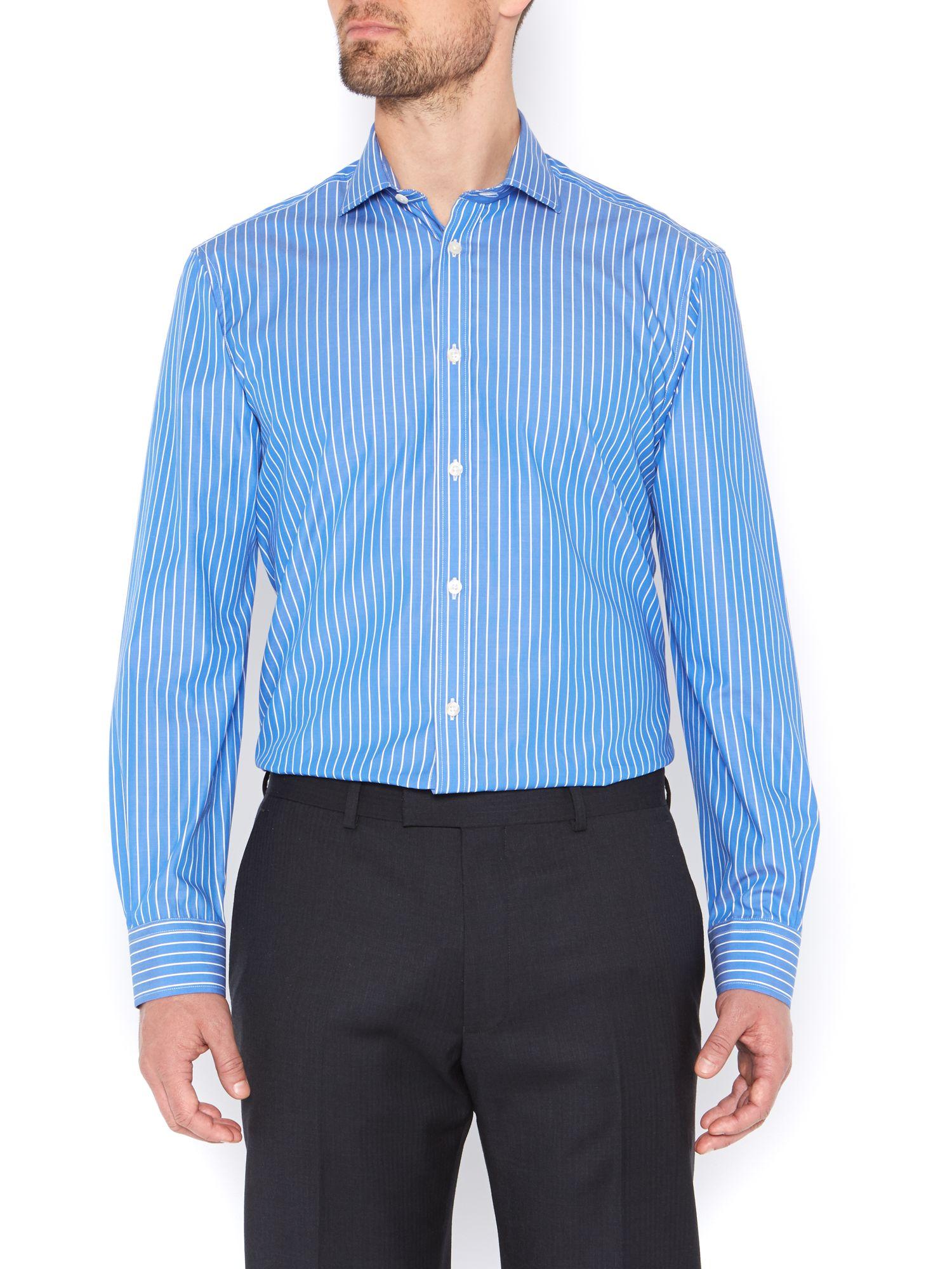 Howick Large Stripe Cutaway Formal Shirt in Blue for Men ...