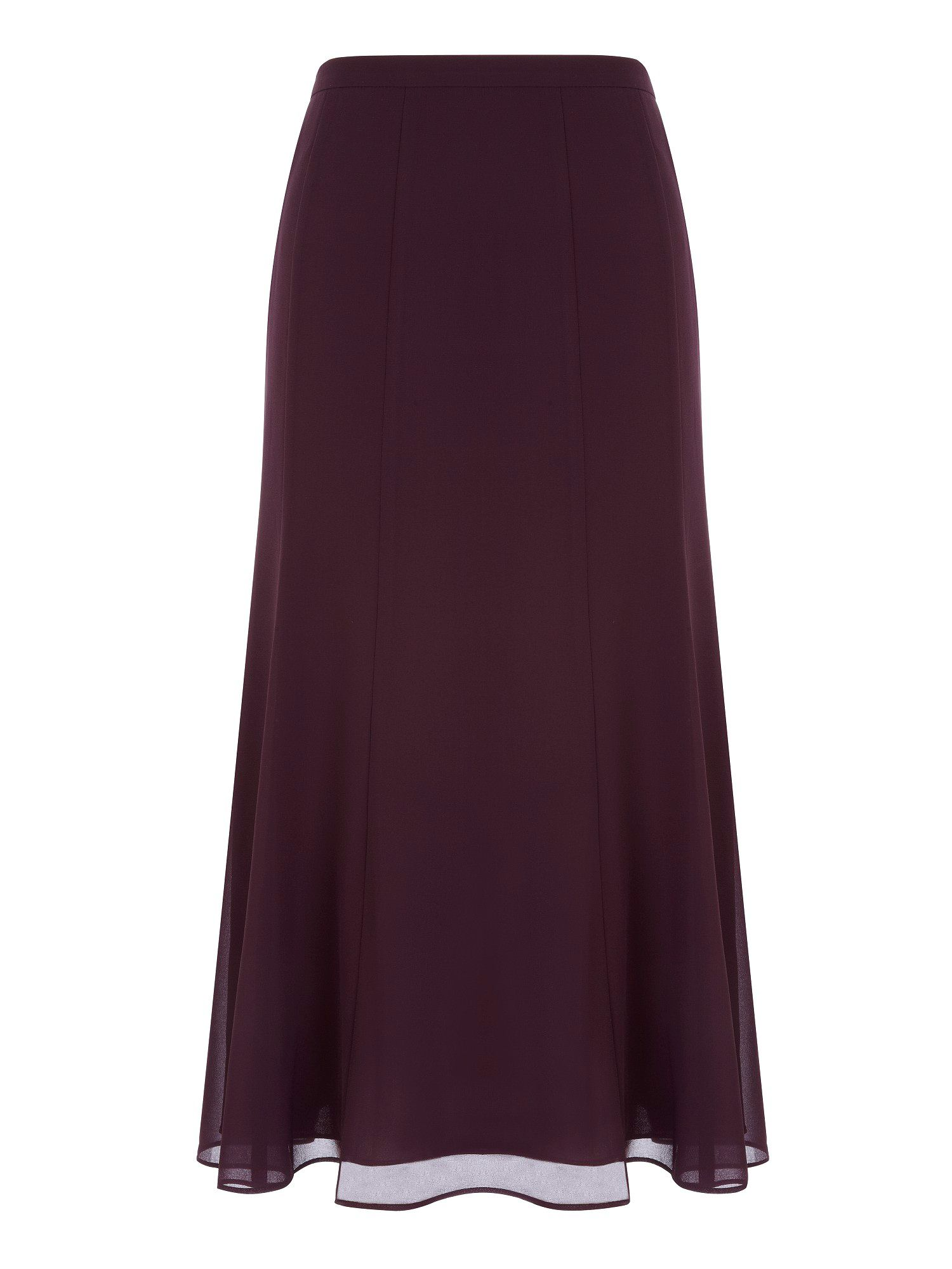 Jacques Vert Wine Chiffon Skirt In Red Purple Lyst
