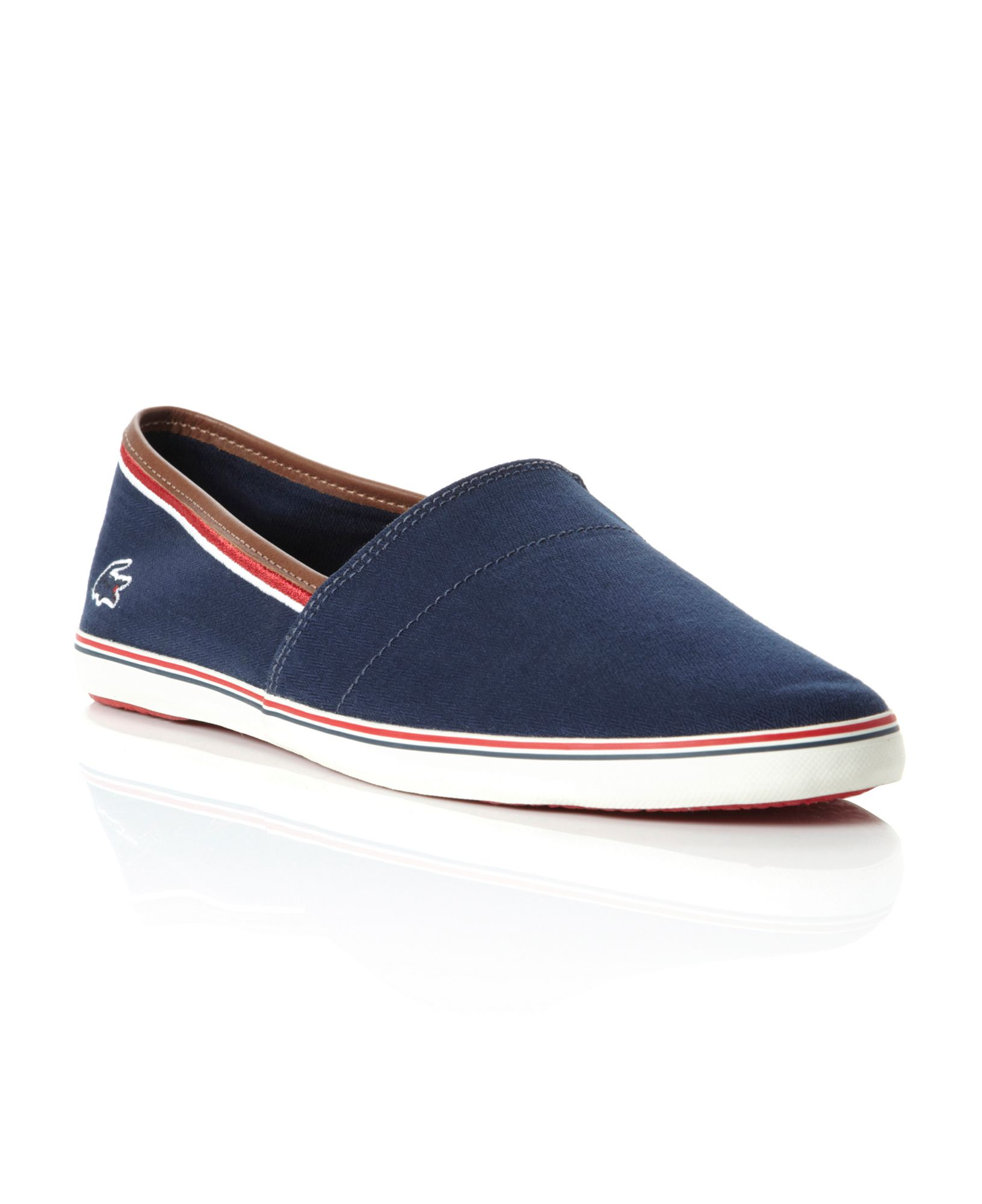 Lacoste Aimard Slip On Casual Shoes In Blue For Men Lyst