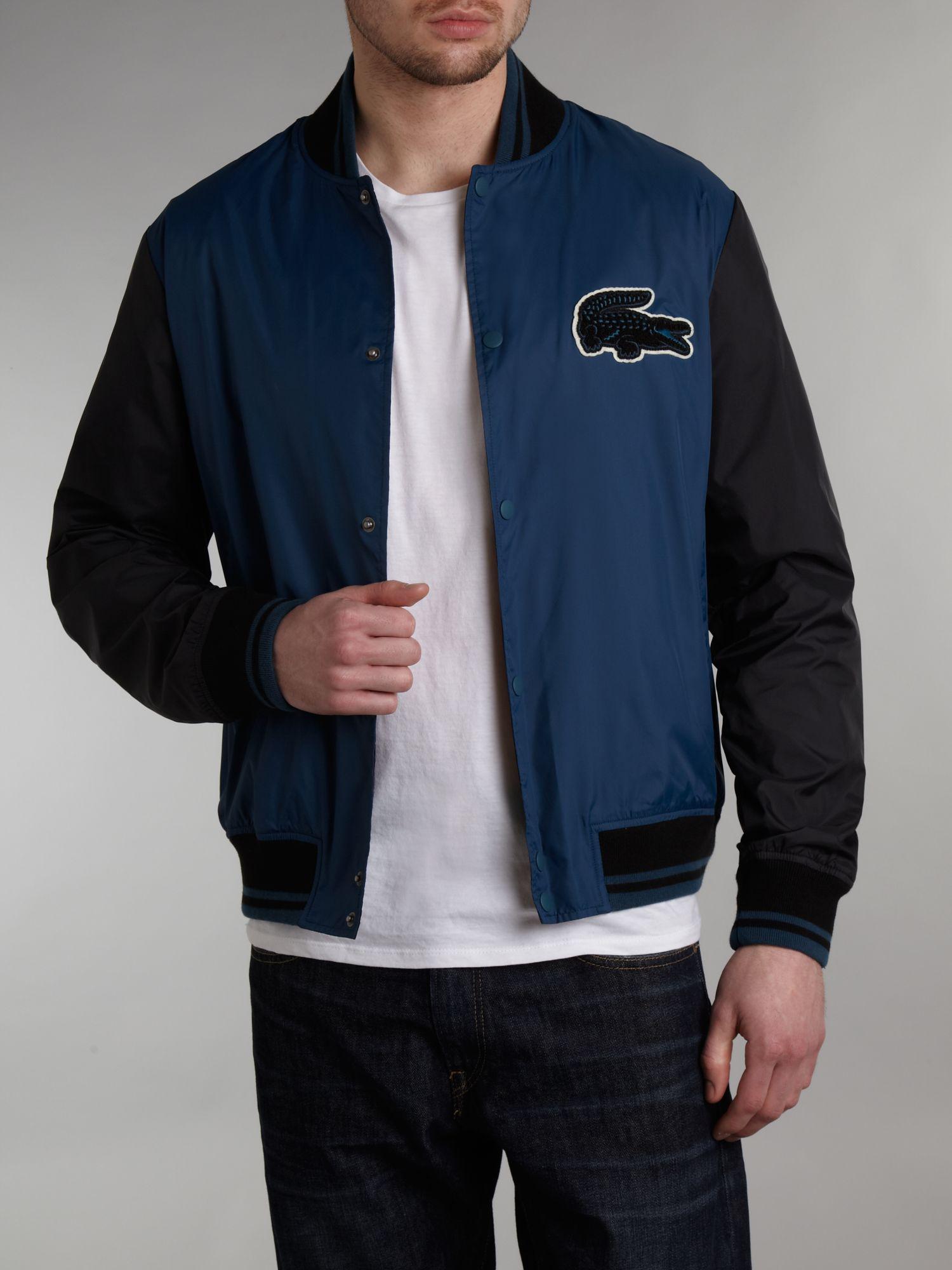 Lacoste Light Weight Varsity Bomber Jacket in Blue for Men | Lyst