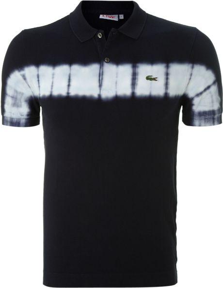Lacoste Tie Dye Polo Shirt In Blue For Men Navy Lyst