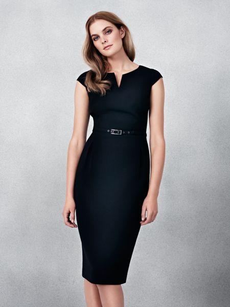 Linea Slim Shift Work Dress In Black Lyst