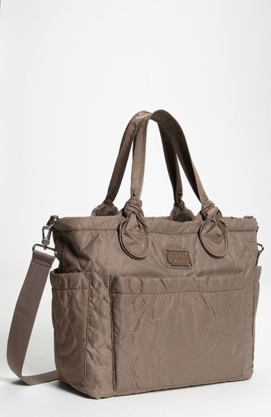 marc by marc jacobs 39 pretty nylon eliz a baby 39 diaper bag in gray gr. Black Bedroom Furniture Sets. Home Design Ideas