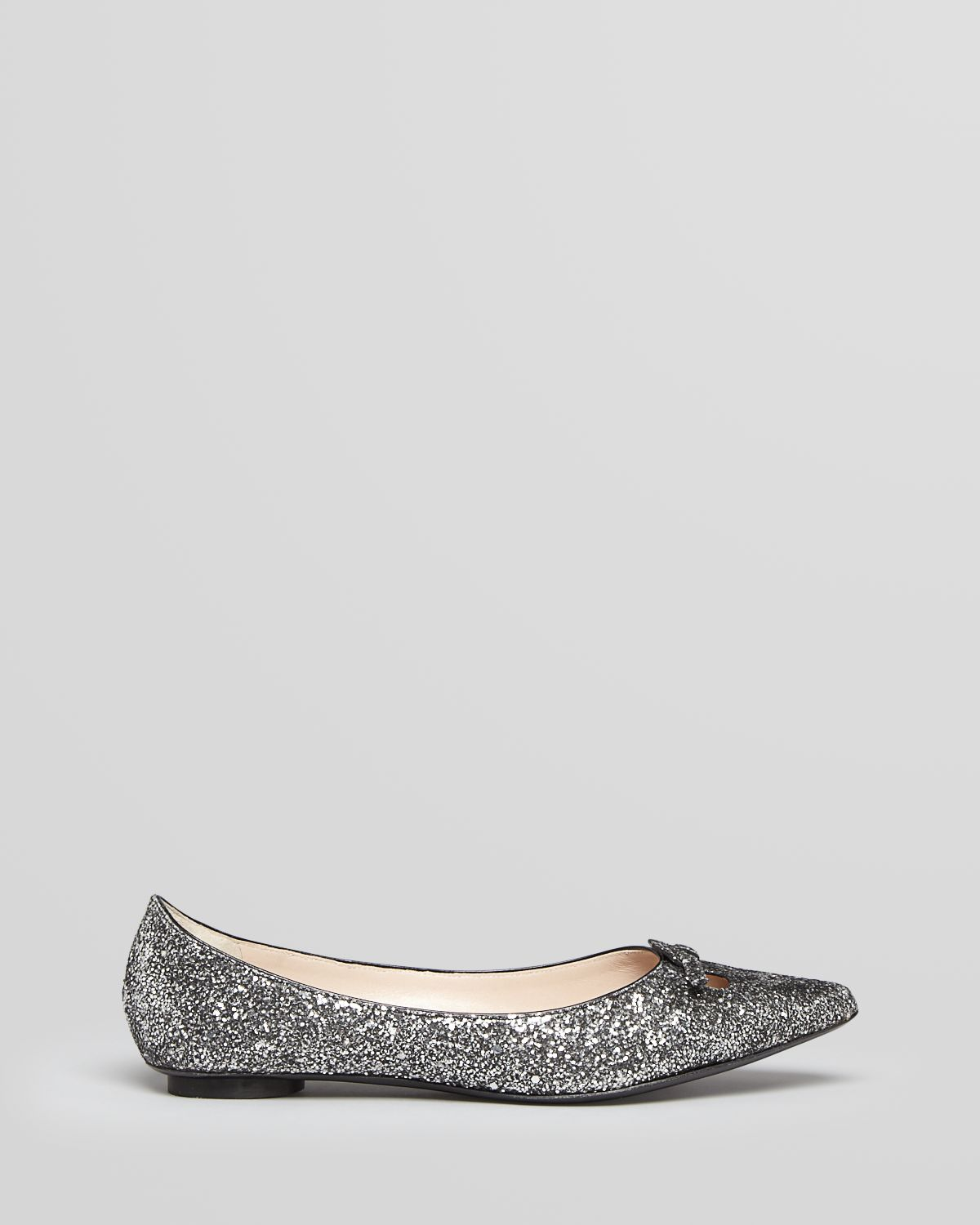 99cd0af0a2a Marc Jacobs White Pointed Toe Flats Mouse Glitter