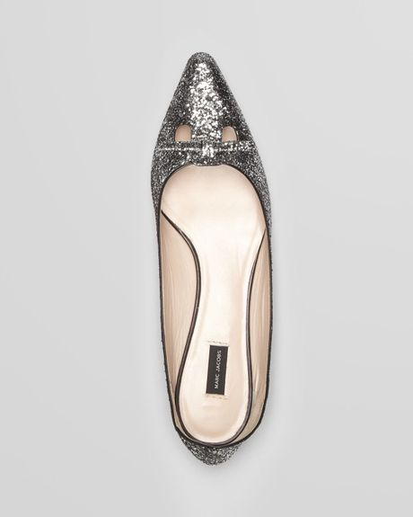 Glitter Pointed Flats Toe Flats Mouse Glitter in