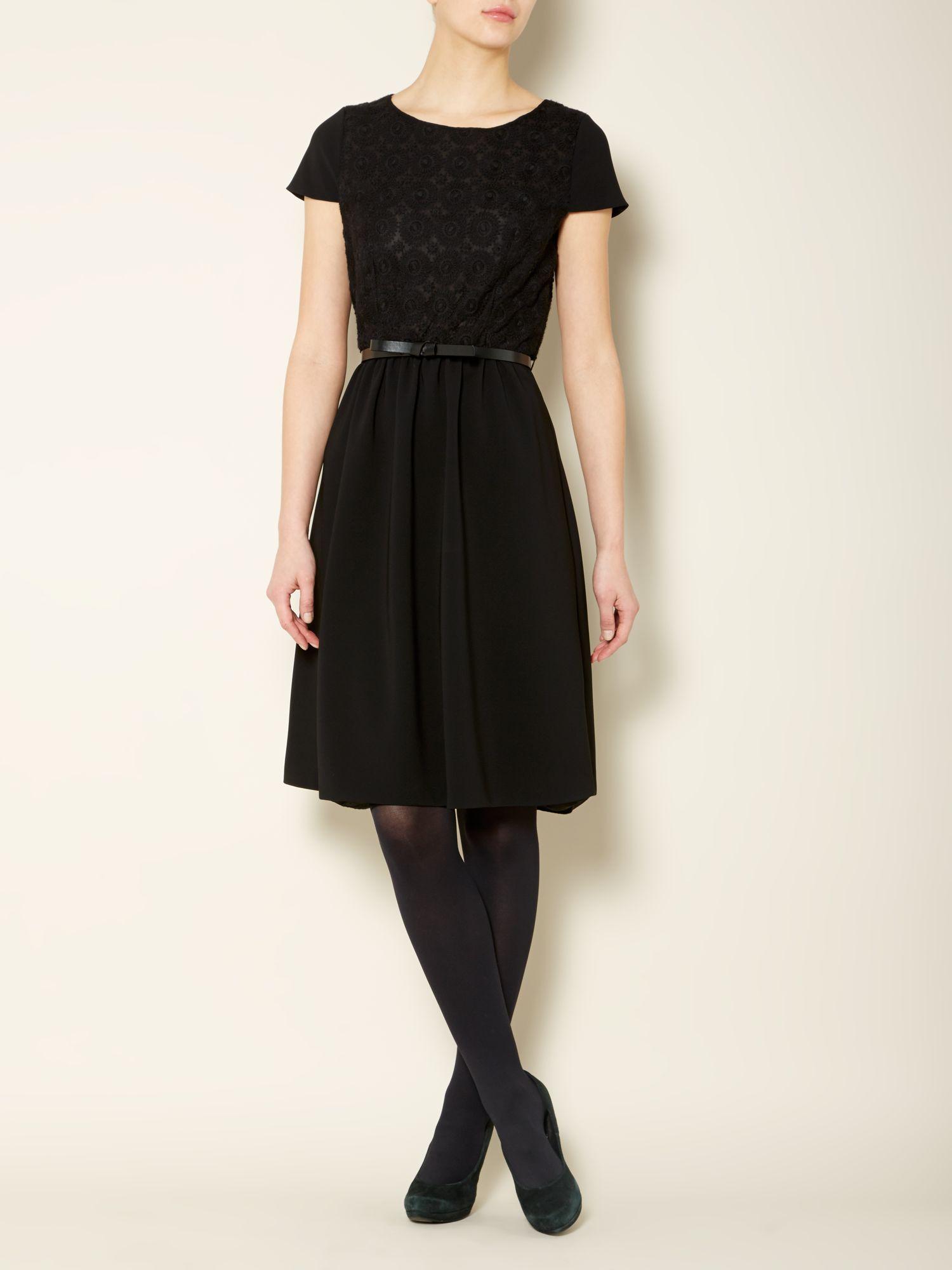 max mara studio livrea short sleeve dress with floral. Black Bedroom Furniture Sets. Home Design Ideas