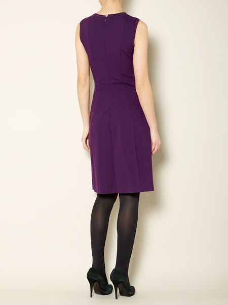 max mara studio genpi sleeveless shift dress in purple lyst. Black Bedroom Furniture Sets. Home Design Ideas
