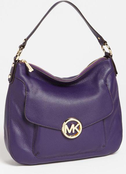 Michael Michael Kors Fulton Large Shoulder Bag in Purple (Iris)
