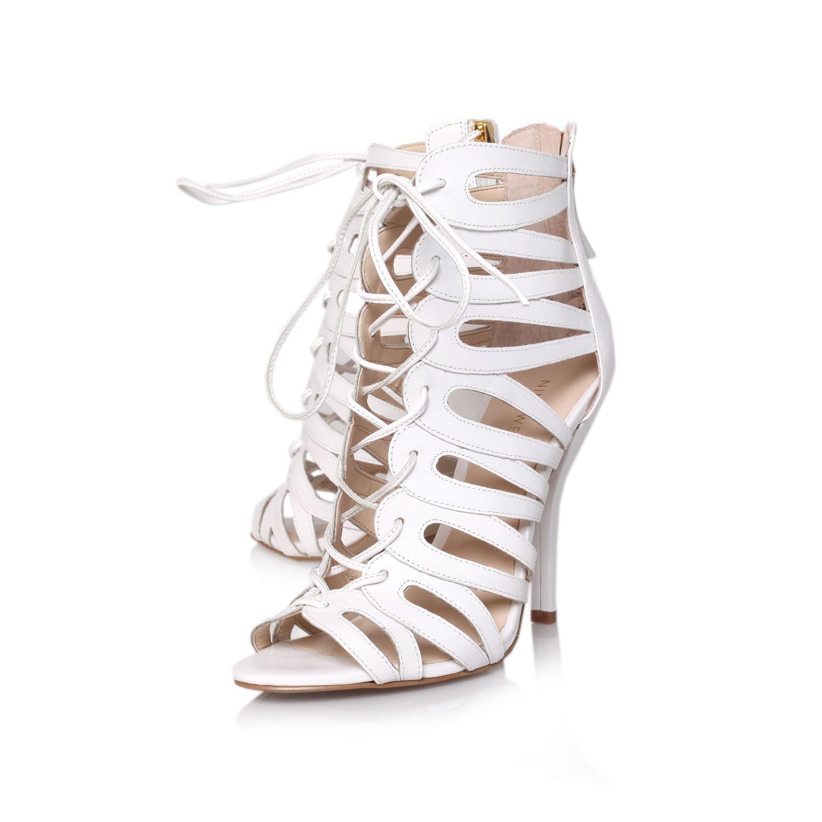 Nine West Kenie Sandals In White Lyst