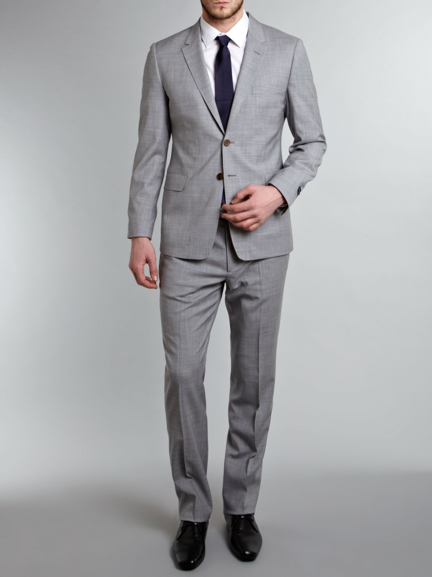 Paul smith Textured Marl Suit in Gray for Men | Lyst