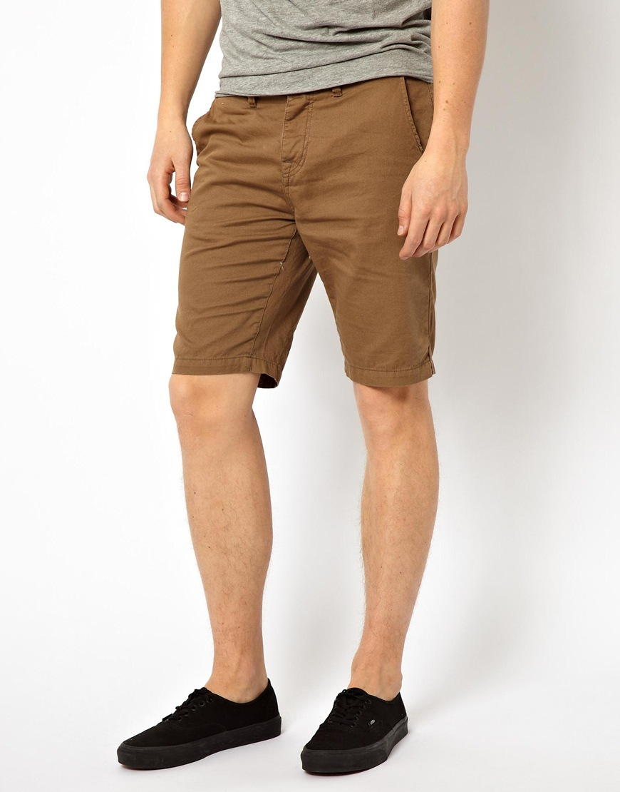 Paul smith Pepe Chino Shorts in Brown for Men | Lyst