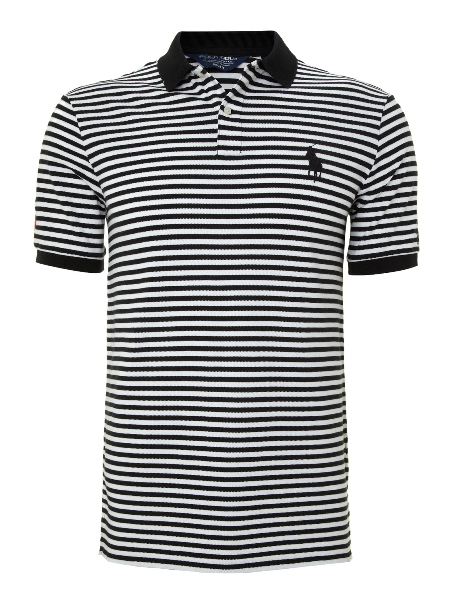 Ralph lauren golf Open Striped Big Pony Polo Shirt in White for Men (Black)