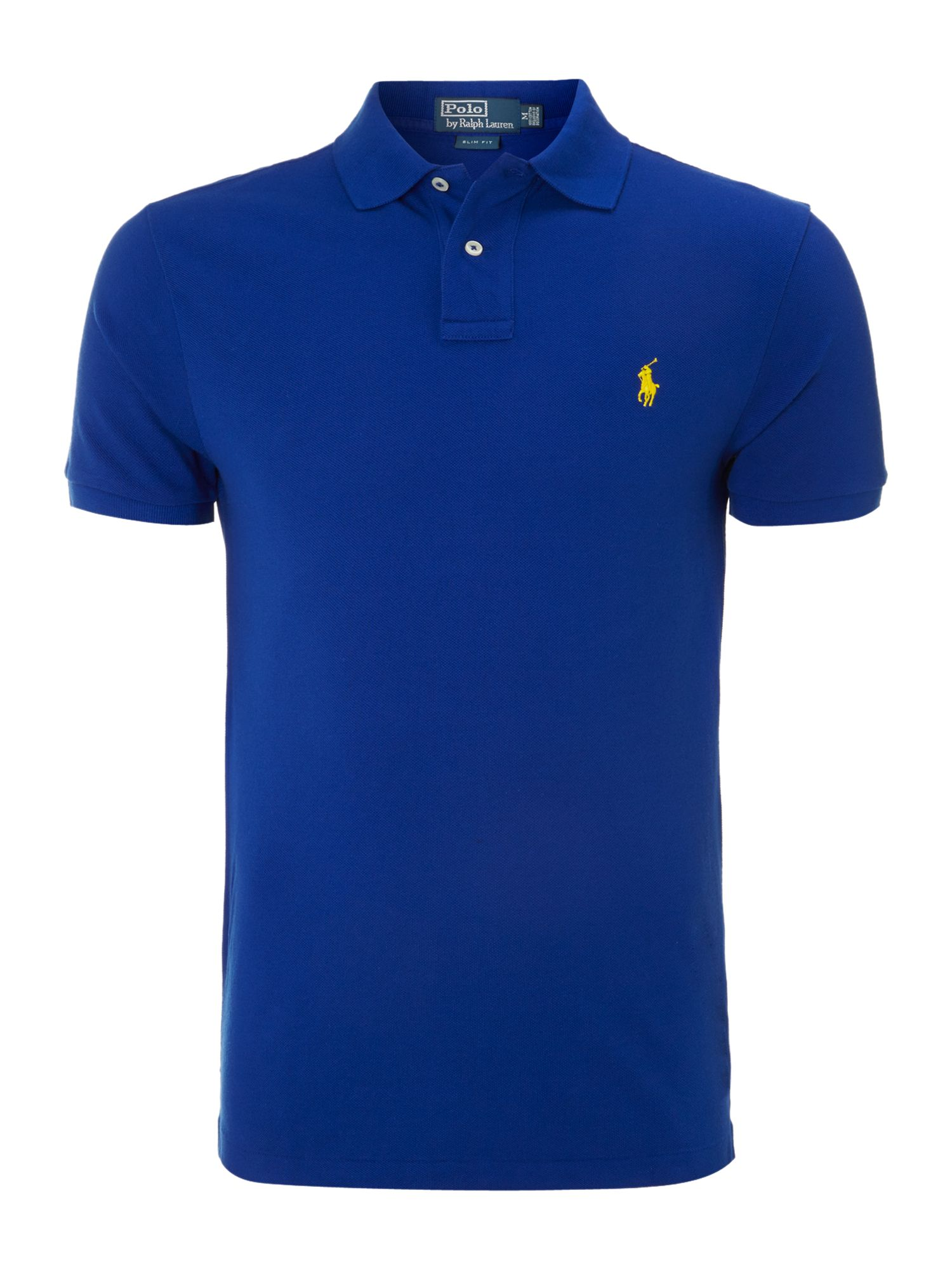 polo ralph lauren classic slim fit polo in blue for men royal blue. Black Bedroom Furniture Sets. Home Design Ideas