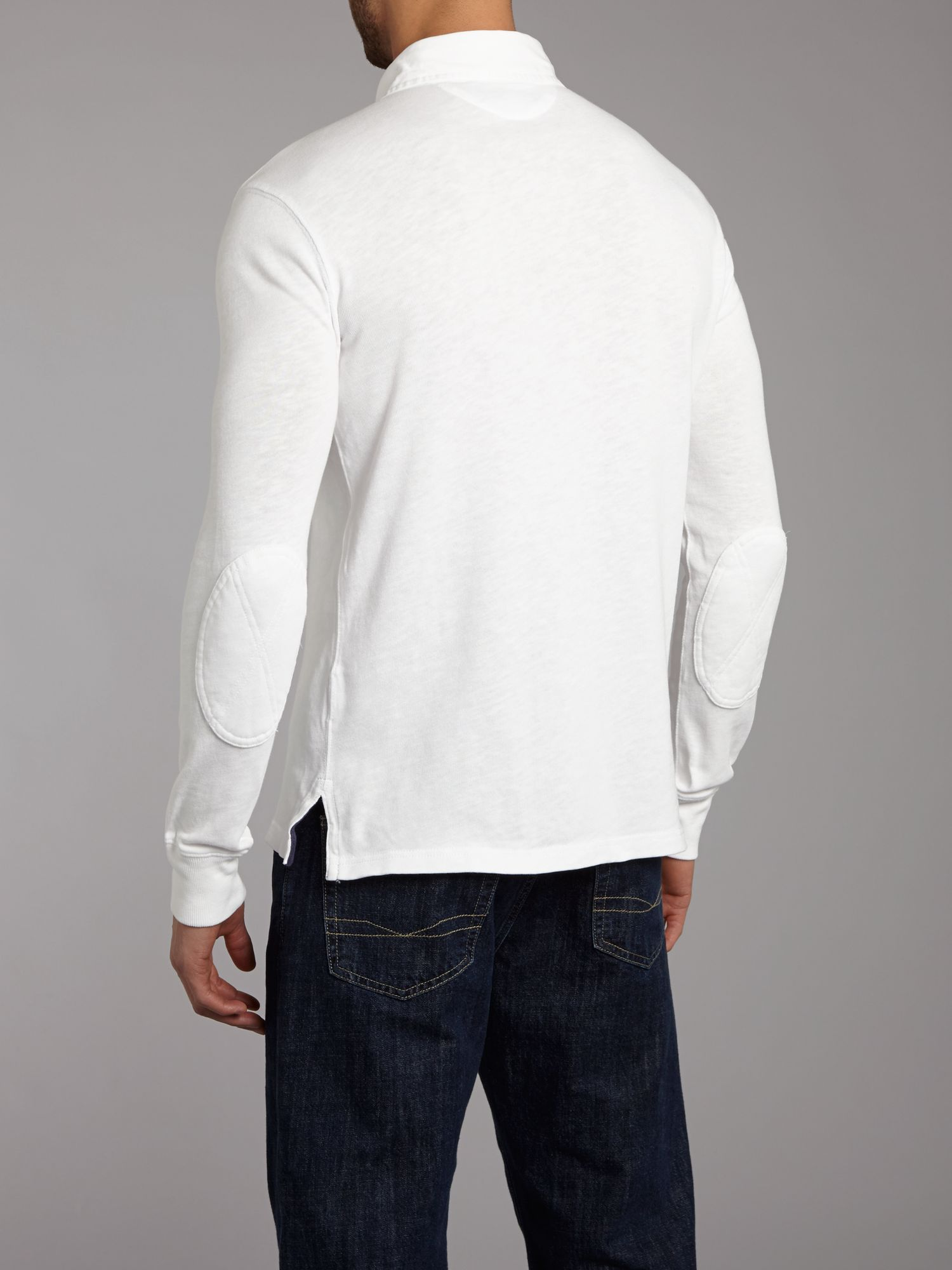 Polo Ralph Lauren Classic Slim Fitted Rugby Top In White