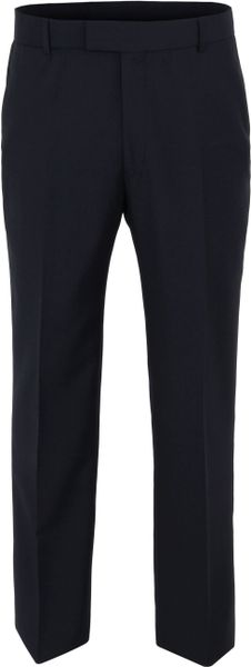 Racing Green Navy Hopsack Trouser in Black for Men (navy)
