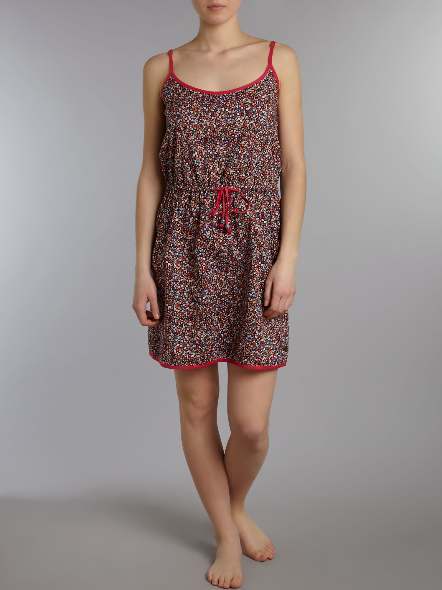 Roxy Synthetic Floral Flurry Ditsy Print Panea Dress in Black