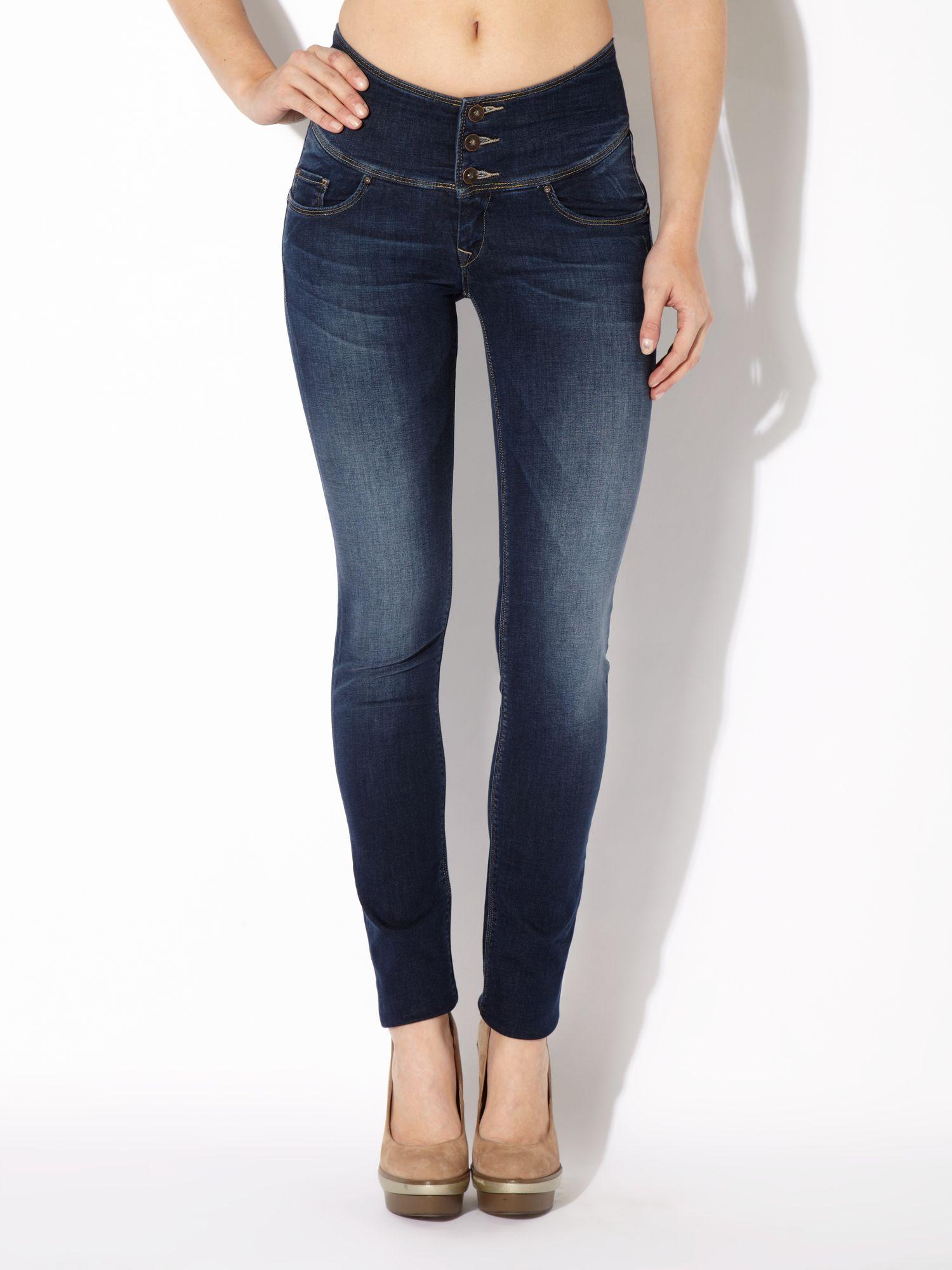 salsa sculpture slim leg jeans in blue lyst. Black Bedroom Furniture Sets. Home Design Ideas