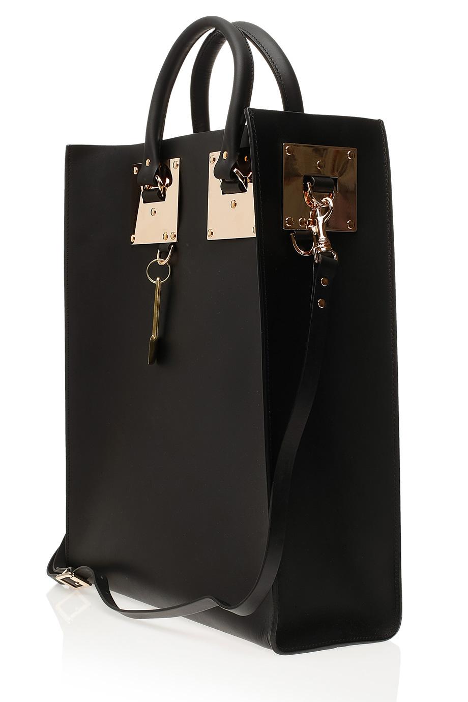Lyst Sophie Hulme Large Classic Tote Bag In Black