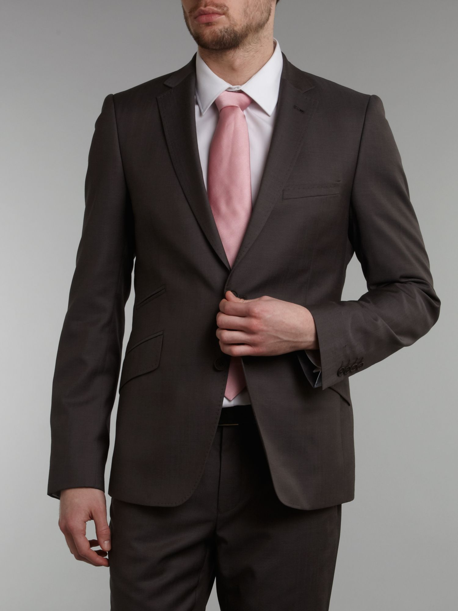 Ted Baker Wool Slick Rick Super Slim Suit Jacket in Light Grey (Grey) for Men