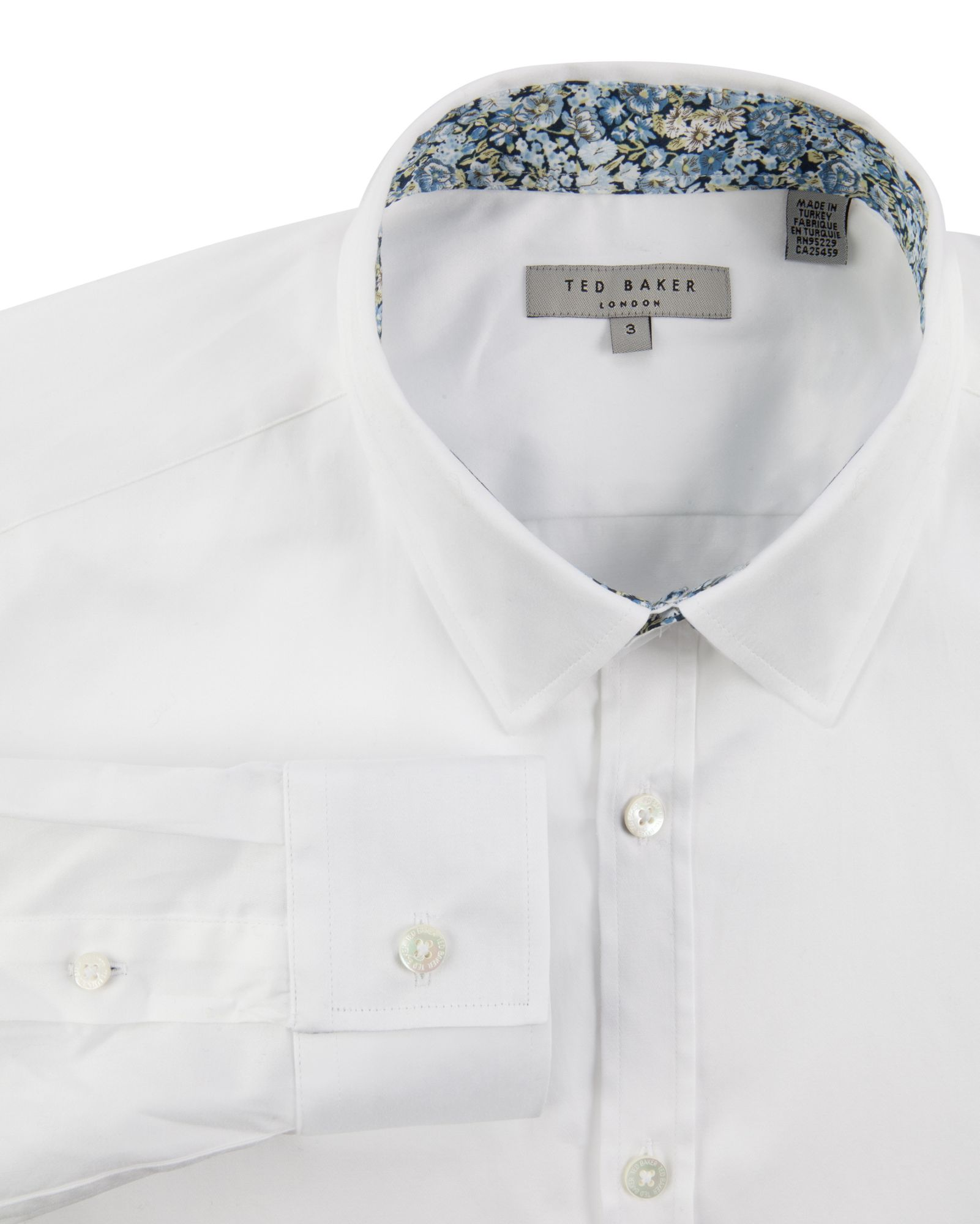 e885f9cf1 Lyst - Ted Baker Whestie Satin Finish Shirt in White for Men