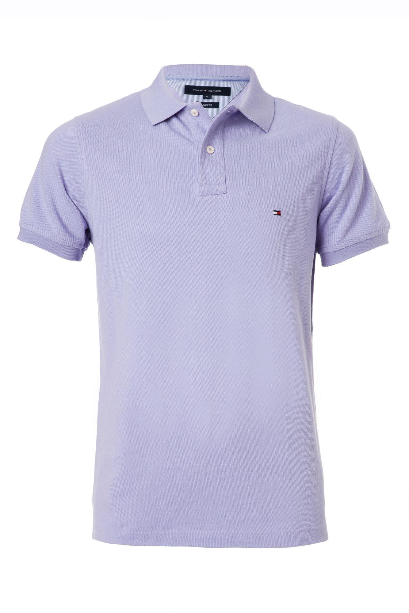 tommy hilfiger slim fit washed polo in purple for men lyst. Black Bedroom Furniture Sets. Home Design Ideas