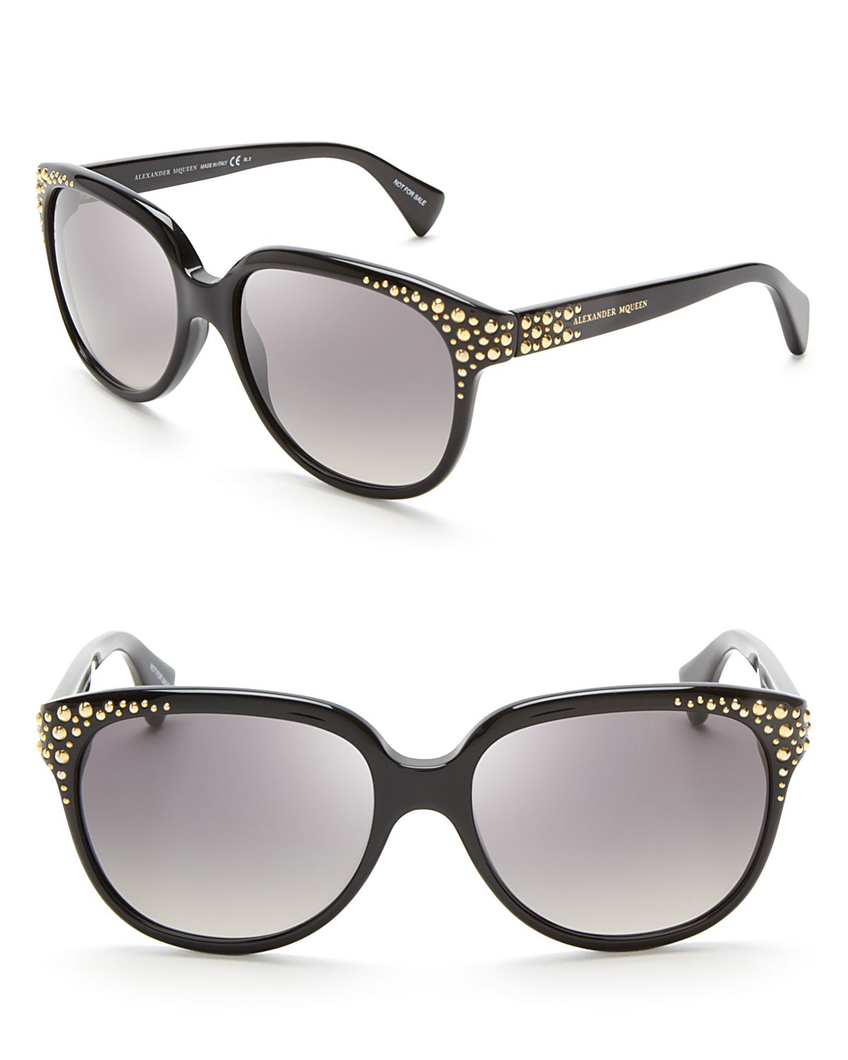 Alexander Mcqueen Cateye Sunglasses  alexander mcqueen studded cat eye sunglasses in black lyst