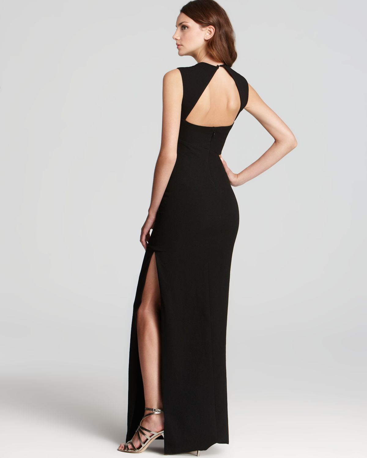 Bcbgmaxazria Gown Sleeveless Cut-out in Black - Lyst