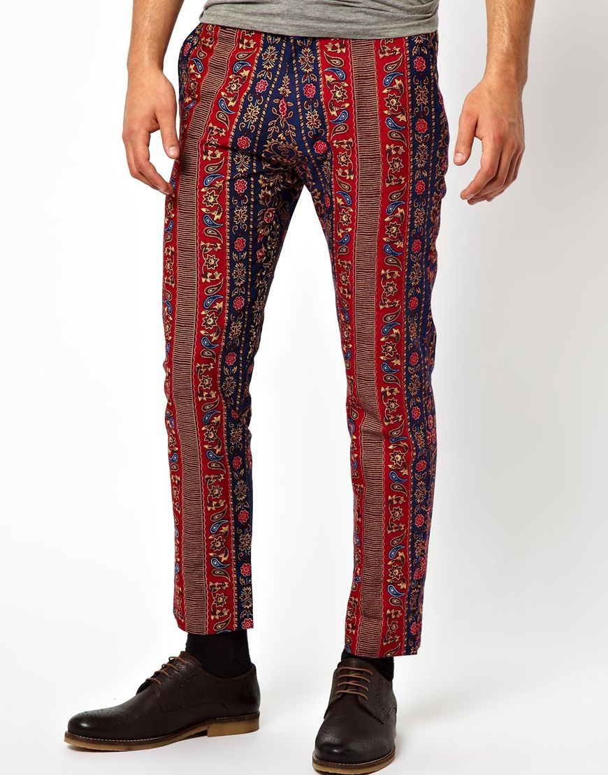 Asos Bite By Dent De Man Floral Print Pants in Multicolor ...