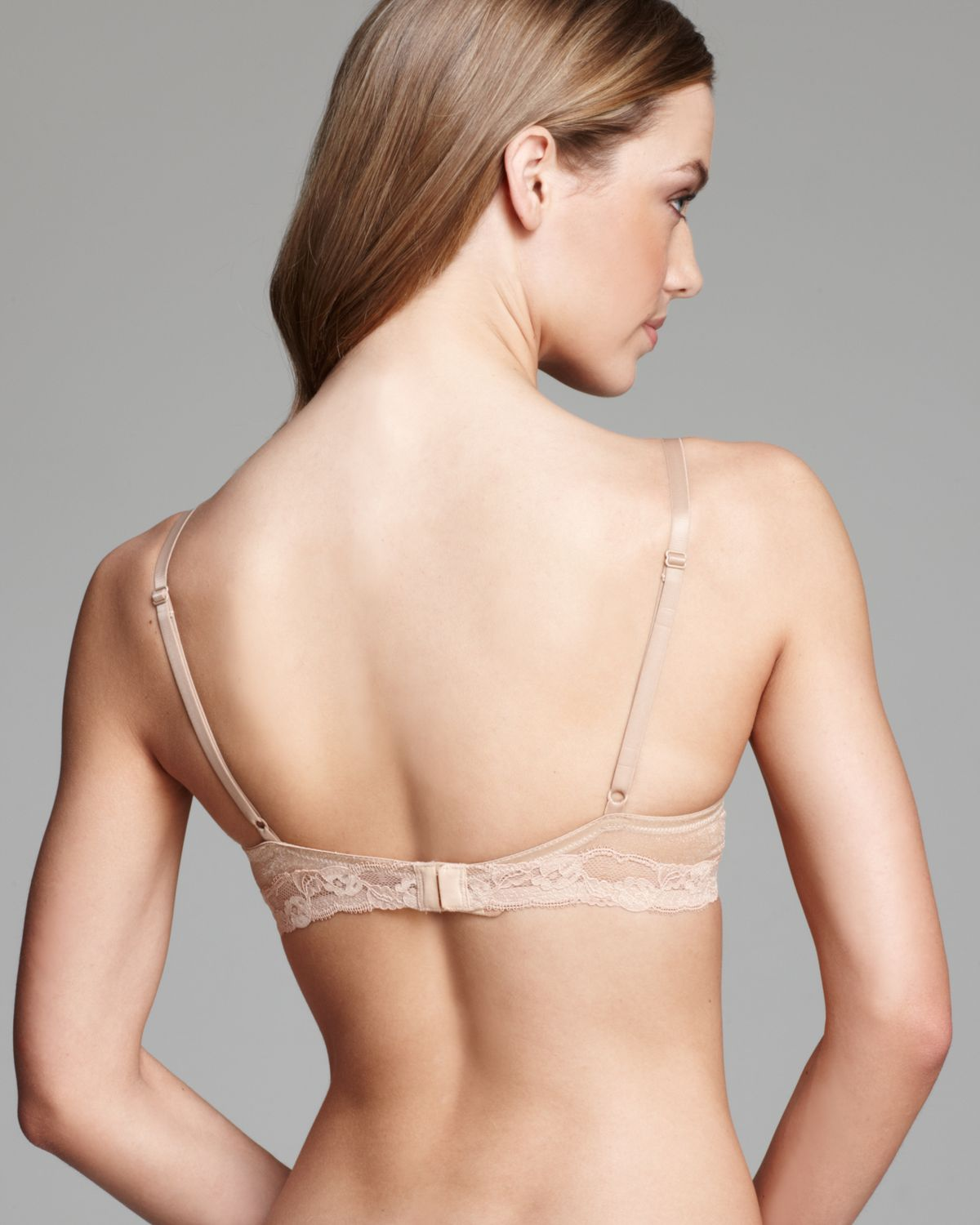 2e5baf5d15fe8 Lyst - Calvin Klein Bra Luster Unlined Underwire in Natural