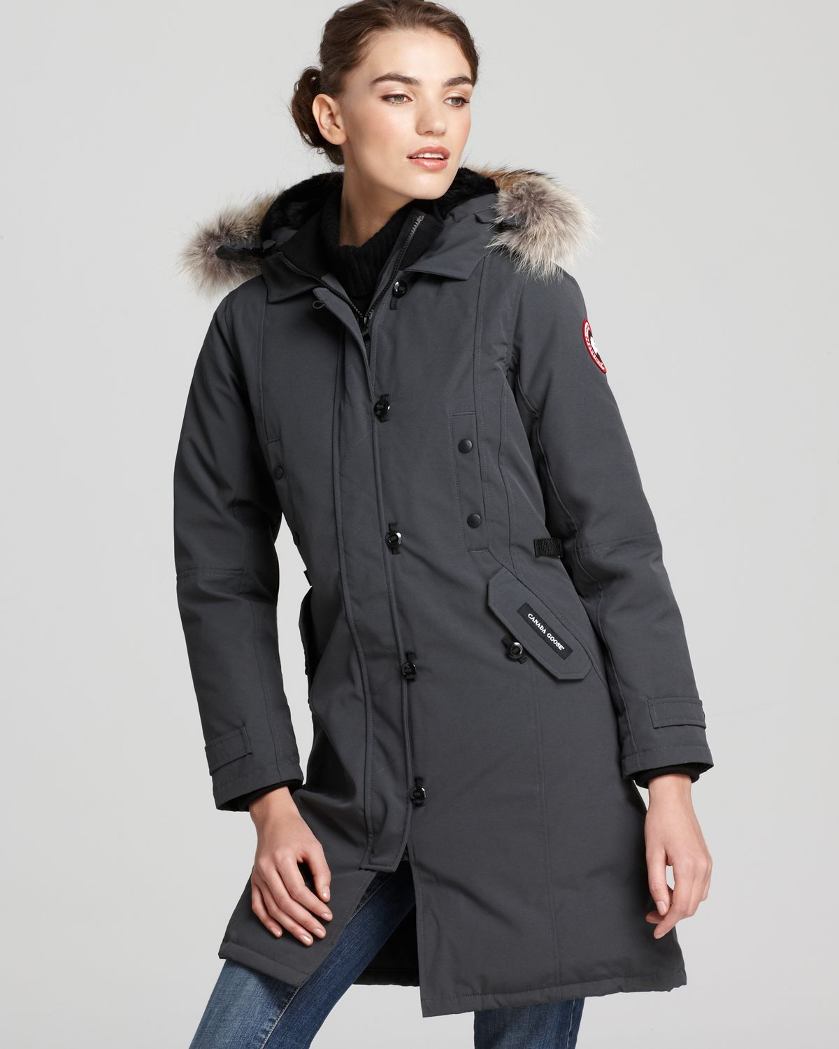 Canada Goose victoria parka sale authentic - Canada goose Kensington Parka in Gray (Graphite) | Lyst