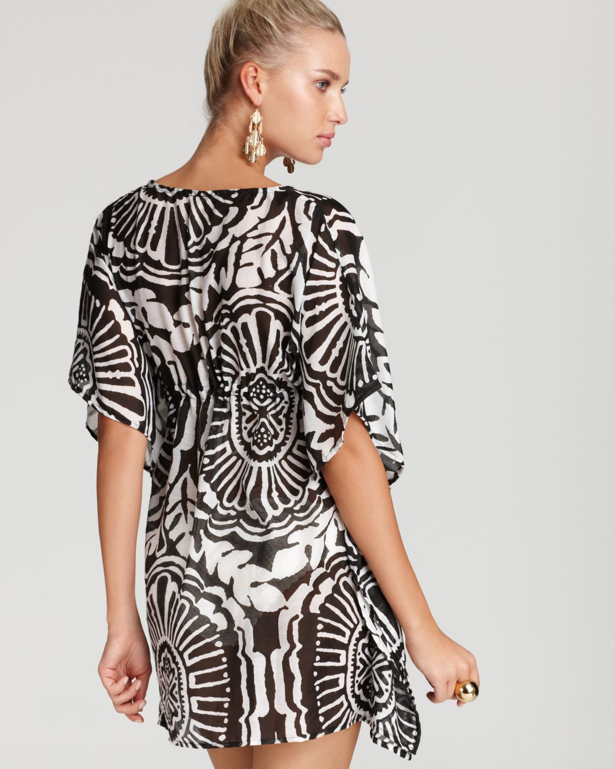 cf17c22f3e5d9 Echo Medallion Print Butterfly Swimsuit Cover Up in Black - Lyst