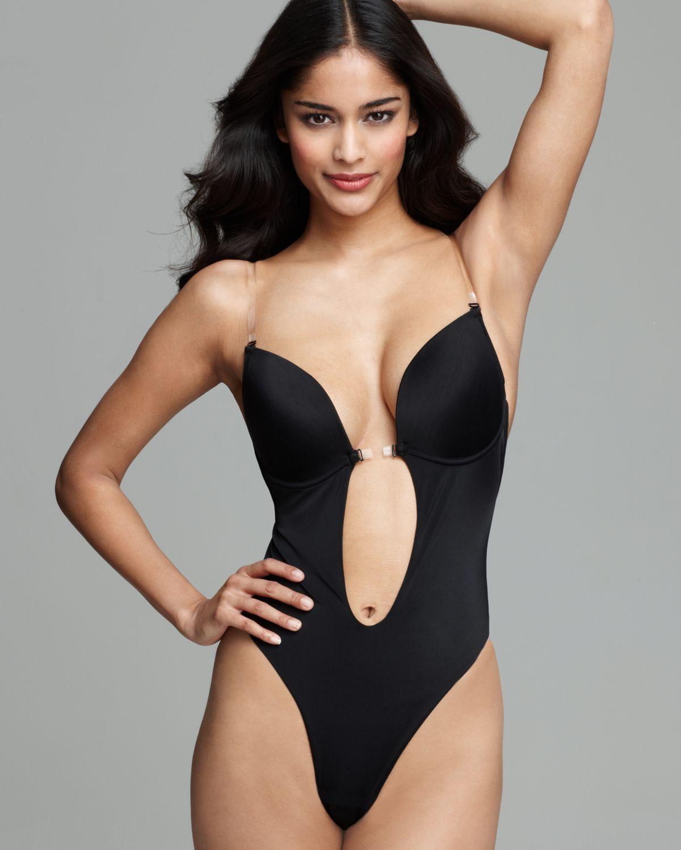 c490504fe0c Ash Fashion Forms Thong Bodysuit U Plunge in Black - Lyst
