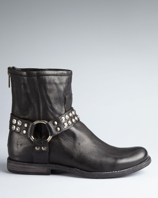 Frye Harness Booties - Phillip in Black