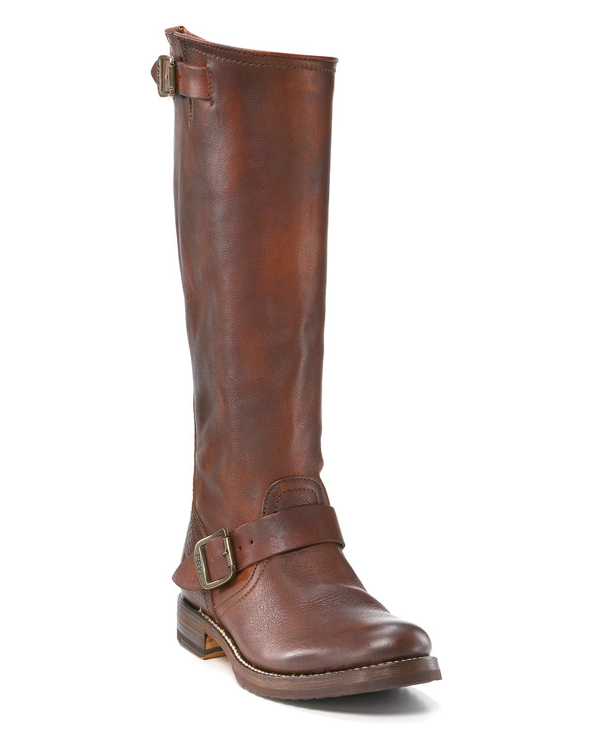 frye slouch boots in brown brown lyst