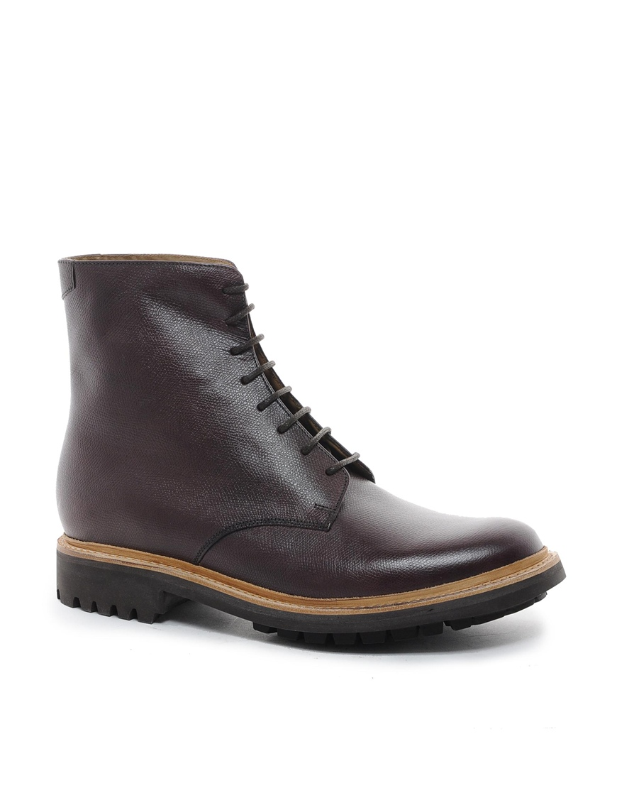 grenson hadley commando boots in brown for lyst